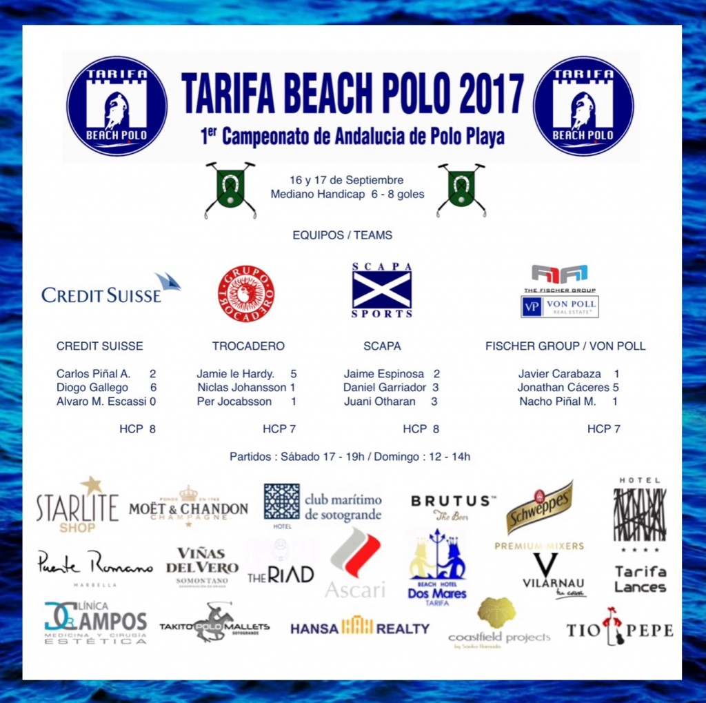 cartel polo playa
